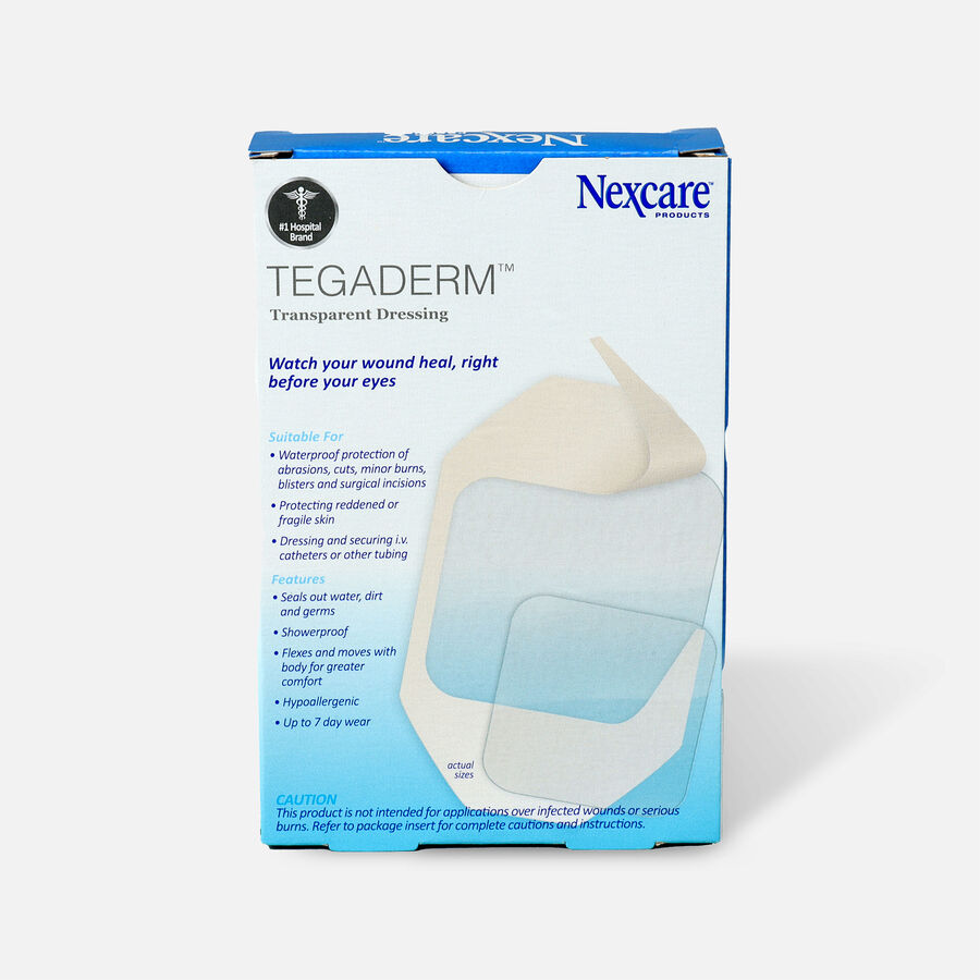 Nexcare Tegaderm Waterproof Transparent Dressing Assorted Pack - 10ct, , large image number 1