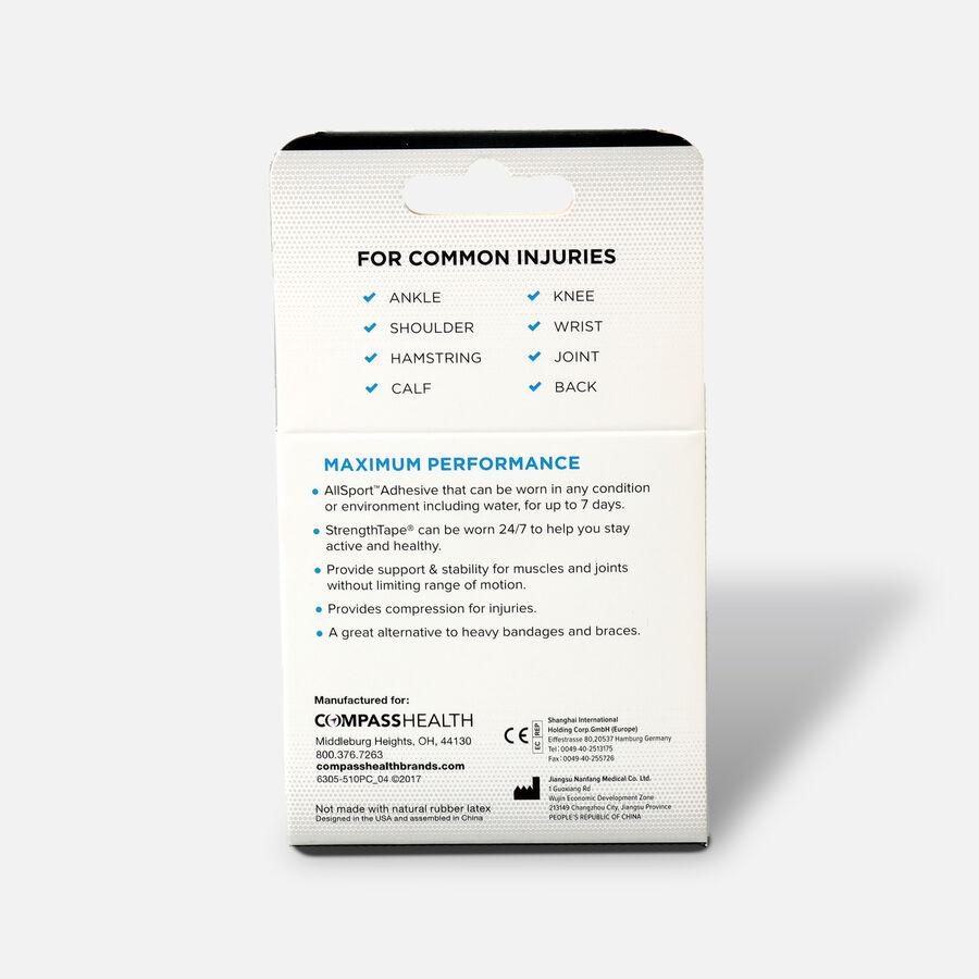 StrengthTape Kinesiology Precut Tape, Black, 20 ct, Black, large image number 1