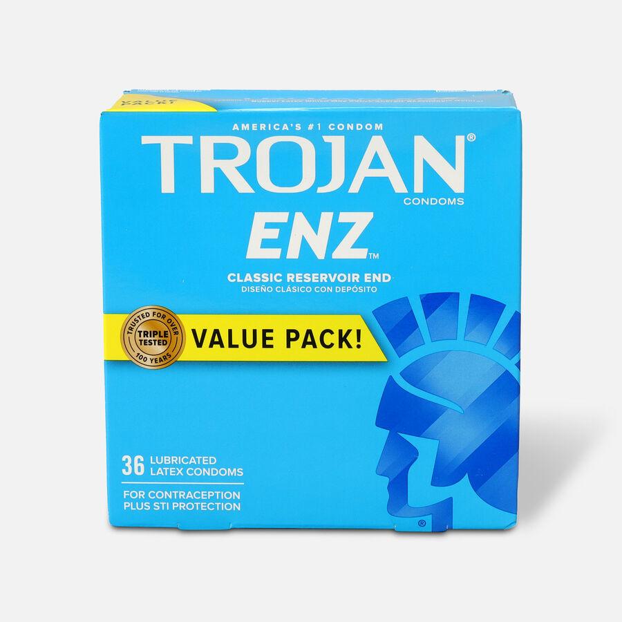 Trojan-Enz Lubricated Latex Condoms, 36 ea, , large image number 0