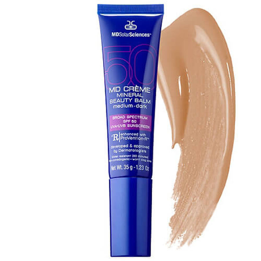 MD Crème Mineral Beauty Balm SPF 50 Face Sunscreen Medium/Dark, 1.23 oz, , large image number 3