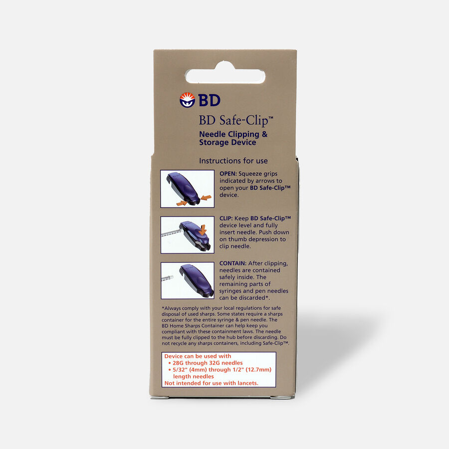 BD Safe Clip Needle Clipping & Storage Device, 1 ea, , large image number 1