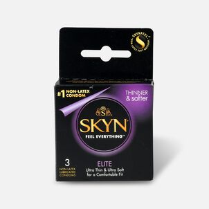 LifeStyles SKYN Elite Non-Latex Condoms, 3 Count