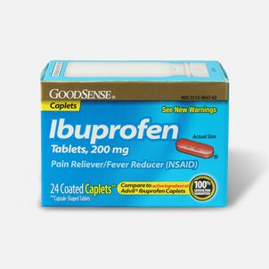 GoodSense® Ibuprofen Coated Caplets 200 mg Pain Reliever and Fever Reducer