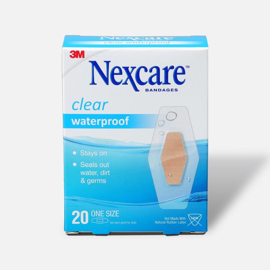 Nexcare Waterproof Clear Bandage, 1 1/16 X 2 1/14, Large, 20 ea , , large image number 0