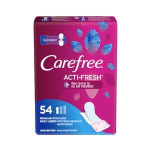 Carefree Acti-Fresh Regular Pantiliners, Unscented