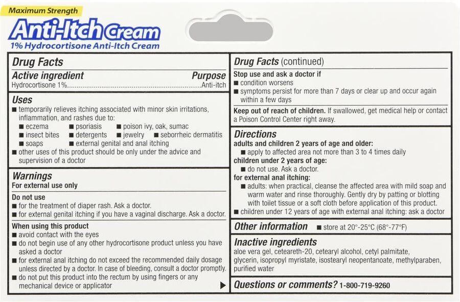 GoodSense® Hydrocortisone 1% Anti-Itch Cream Max Strength, 1 oz, , large image number 1