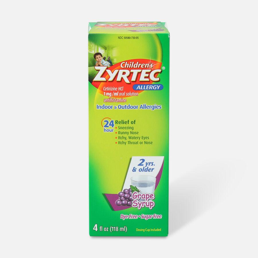 Children's Zyrtec 1mg Grape Syrup, 4 fl oz, , large image number 0