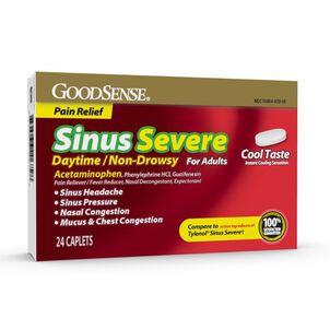 GoodSense® Sinus Congestion + Pain Severe Daytime Adult Caplet, 24 ct