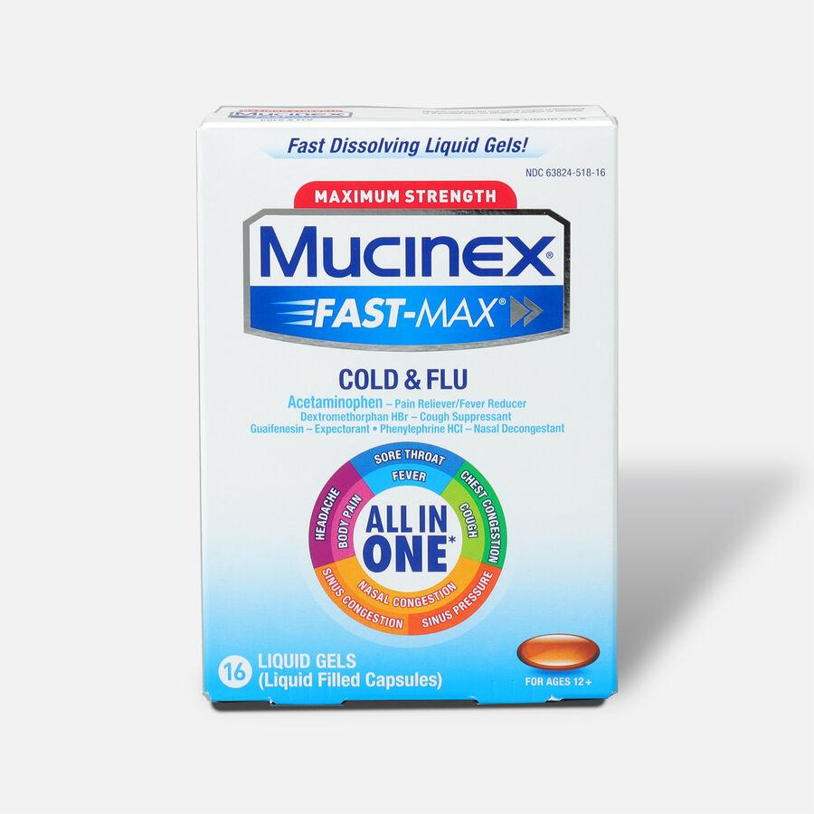 Mucinex Fast-Max Liquid Gels Cold and Flu, 16 ct, , large image number 0