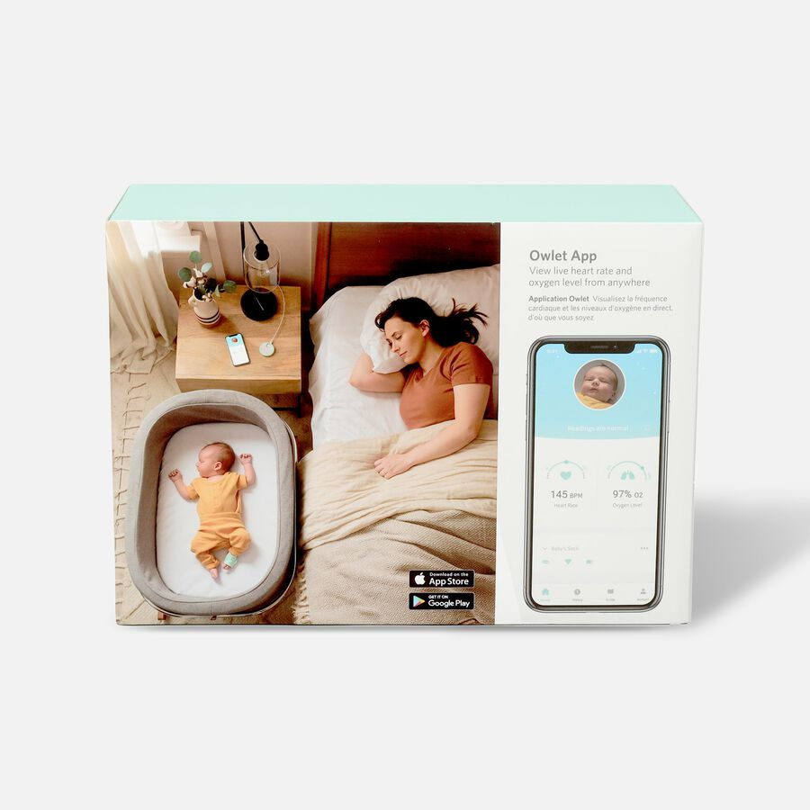 Owlet Smart Sock Baby Monitor-3rd Generation, Mint Green, Mint Green, large image number 2