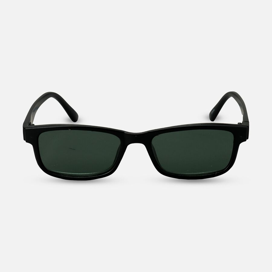 Sunglass Reader with Magnetic Detachable Polarized Lens, +2.00, Black/G15, , large image number 0