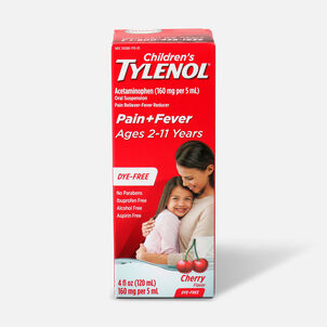 Tylenol Children's Pain and Fever Reliever, Cherry Flavor, 4 fl oz