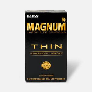 Trojan Condoms Magnum Lubricated Latex Thin, Large 12 ea