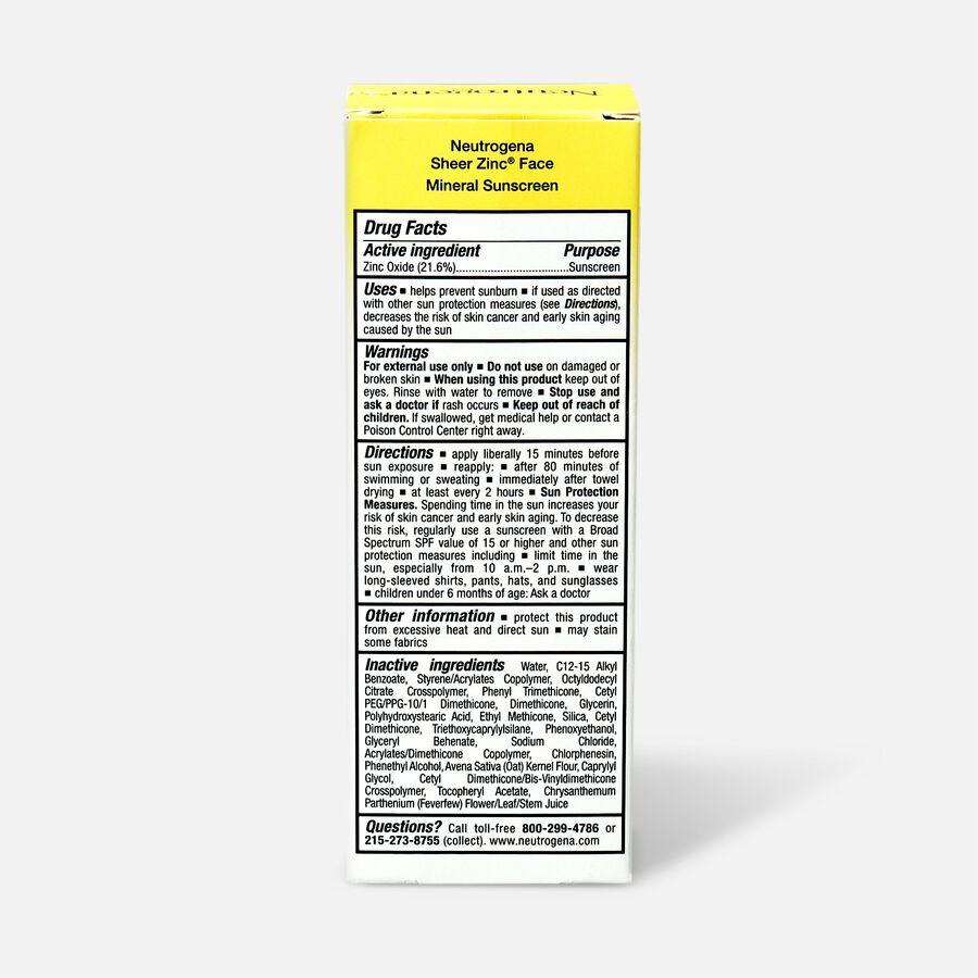 NEUTROGENA SHEER ZINC™ Face Dry-Touch Sunscreen Broad Spectrum SPF 50, 2 Fl. Oz., , large image number 2