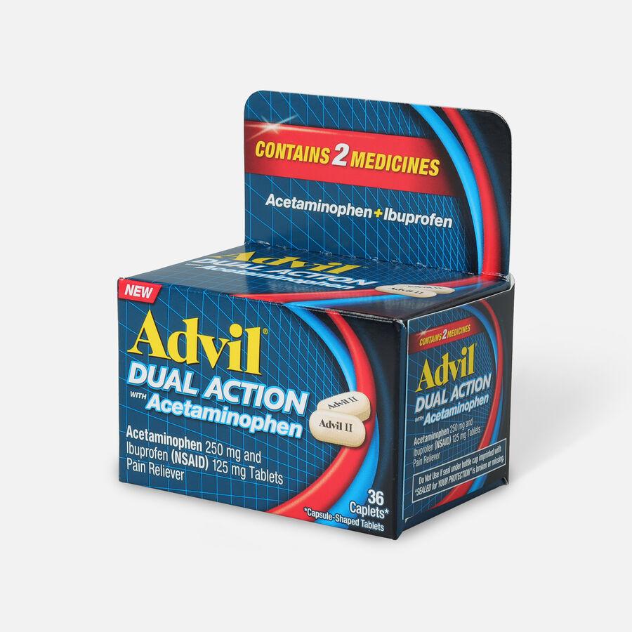 Advil Dual Action Coated Tablets, Acetaminophen + Ibuprofen, 36 ct, , large image number 2