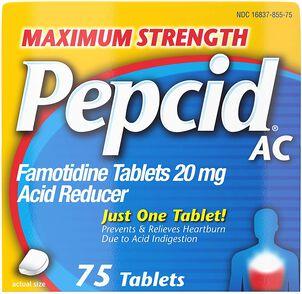 Pepcid AC Acid Reducer Maximum Strength Tablets, 75 ct