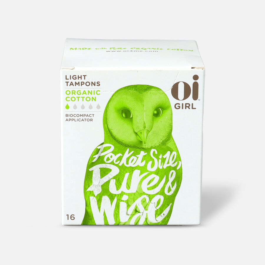 Oi Girl Organic Cotton Tampons with BioCompact Applicator, Light, 16ct, , large image number 0
