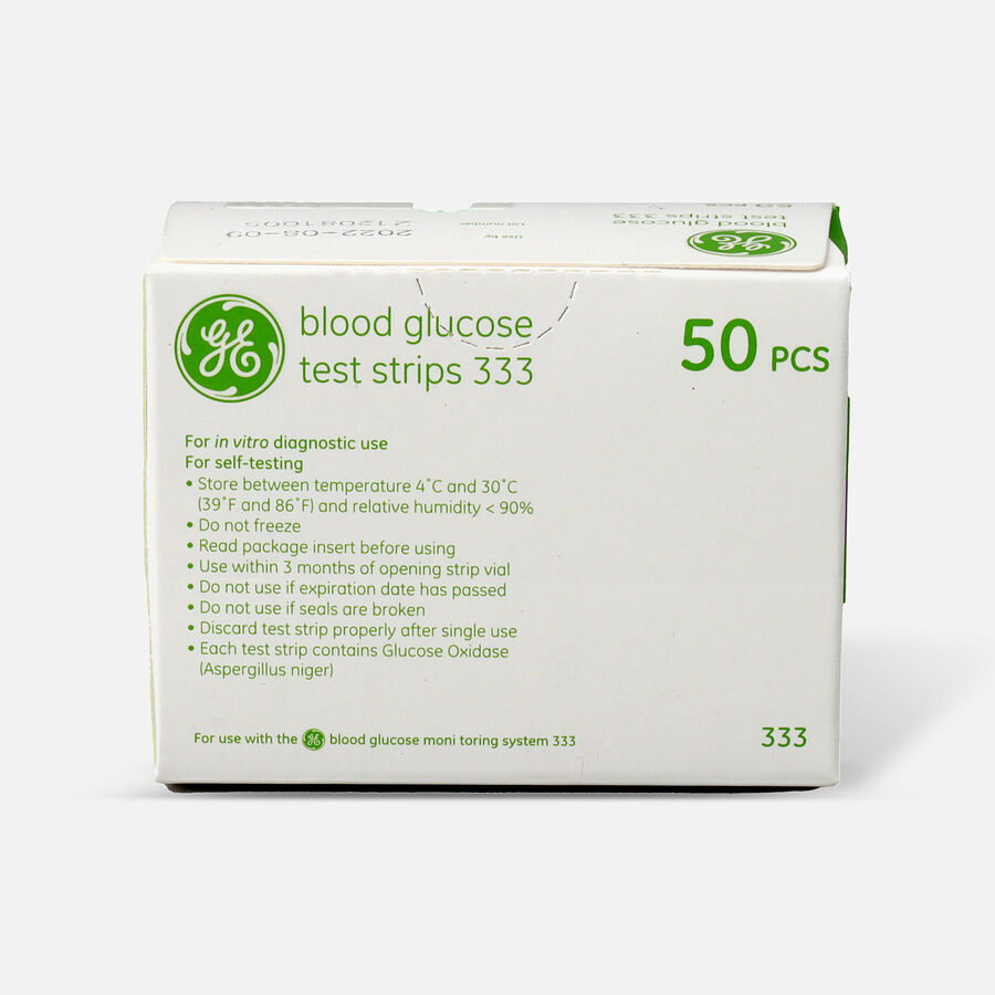 GE333 Blood Glucose Test Strips, 50 CT, , large image number 0