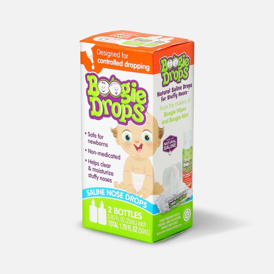 Boogie Drops Saline Nose Drops Twin Pack - 1.7 fl oz, , large image number 2
