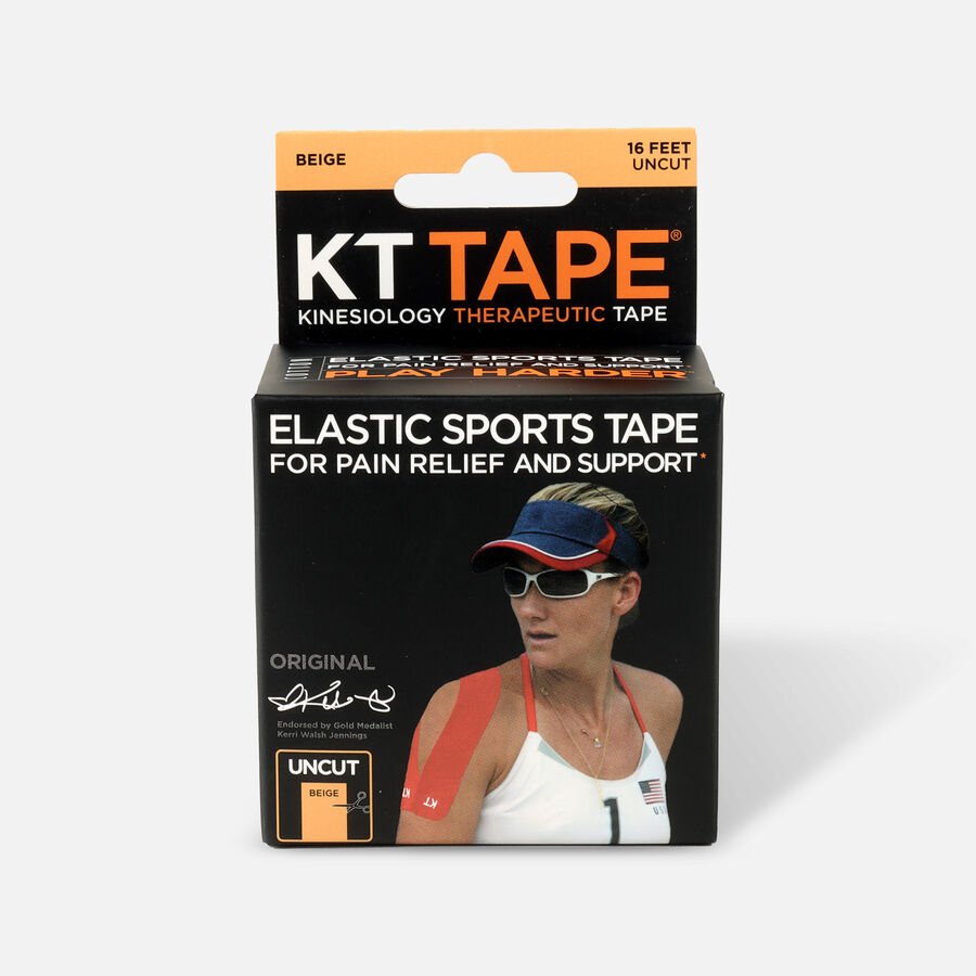 KT Tape Original Cotton Uncut 16 ft roll, Beige, , large image number 0