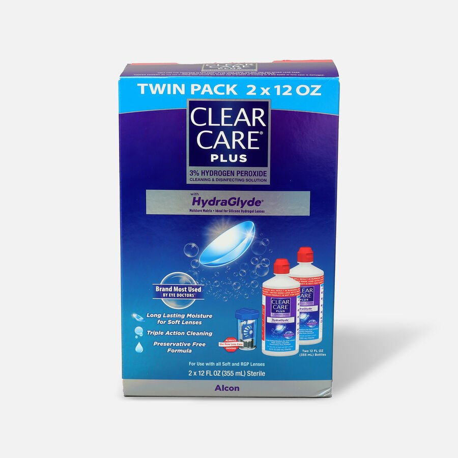 Clear Care Plus Cleaning and Disinfecting Solution 12 oz (Pack of 2) , , large image number 0