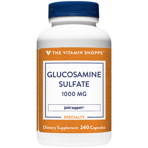 Vitamin Shoppe Glucosamine Sulfate Capsules, For Joint Support, 1,000 mg, 240 ct