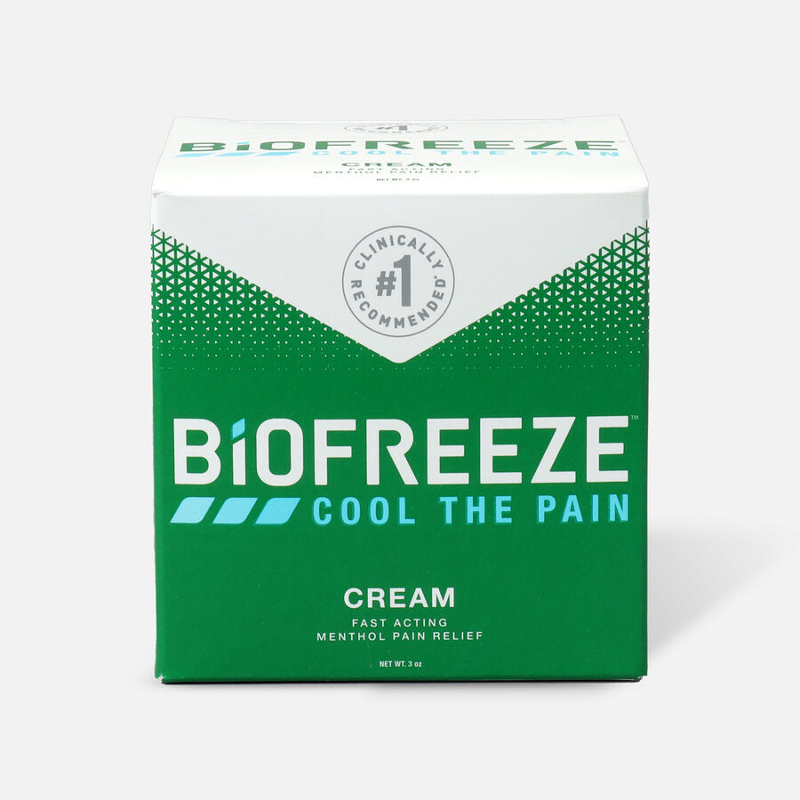 Biofreeze® Pain Relief Cream, 3oz Jar, , large image number 1