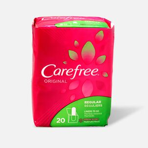 Carefree Original Regular Pantiliners, Scented, 20ct