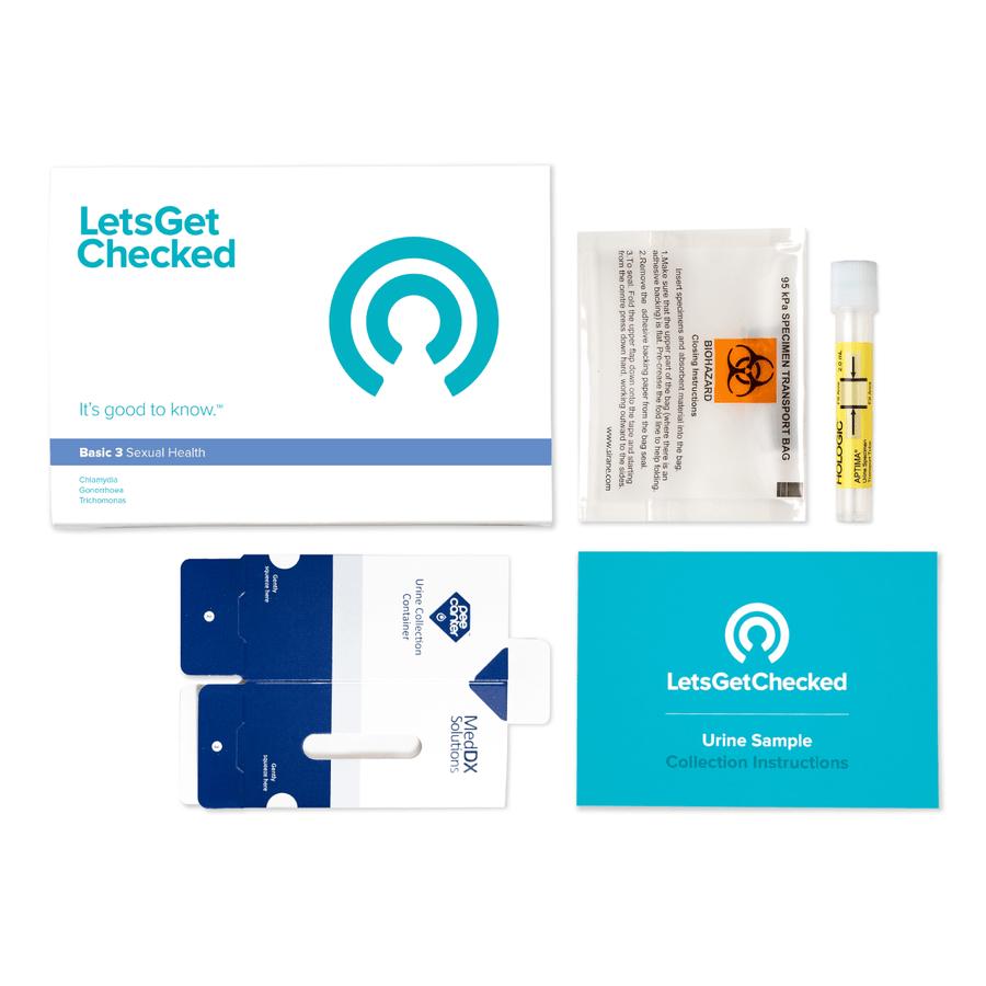 LetsGetChecked Basic 3 STD At Home Test, , large image number 1
