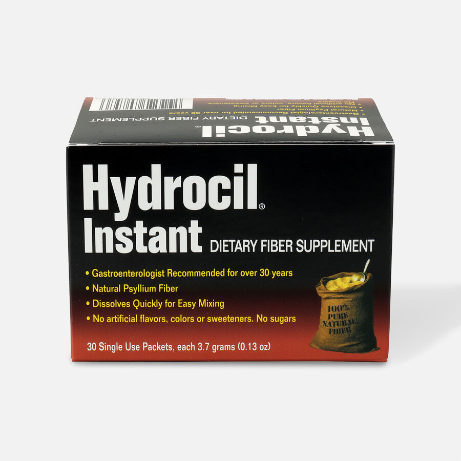 Hydrocil Instant Dietary Fiber Laxative & Supplement, 30 Single Use Packets, , large image number 0