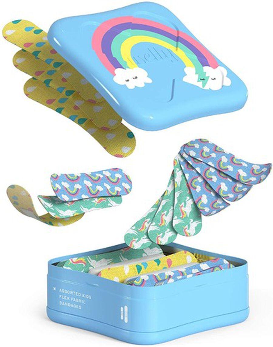 Welly Bravery Badges Assorted Kids Rainbow Flex Fabric Bandages - 48ct, , large image number 4