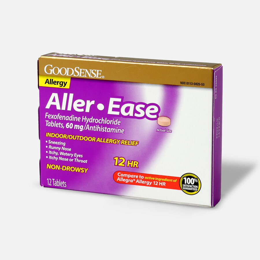 GoodSense® Aller-Ease 60 mg 12-Hour Non-Drowsy Tablets ,12 ct, , large image number 2