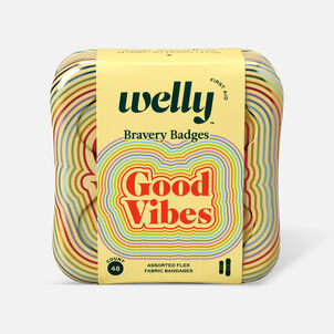 Welly Bravery Badges Good Vibes Assorted Flex Fabric Bandages - 48ct