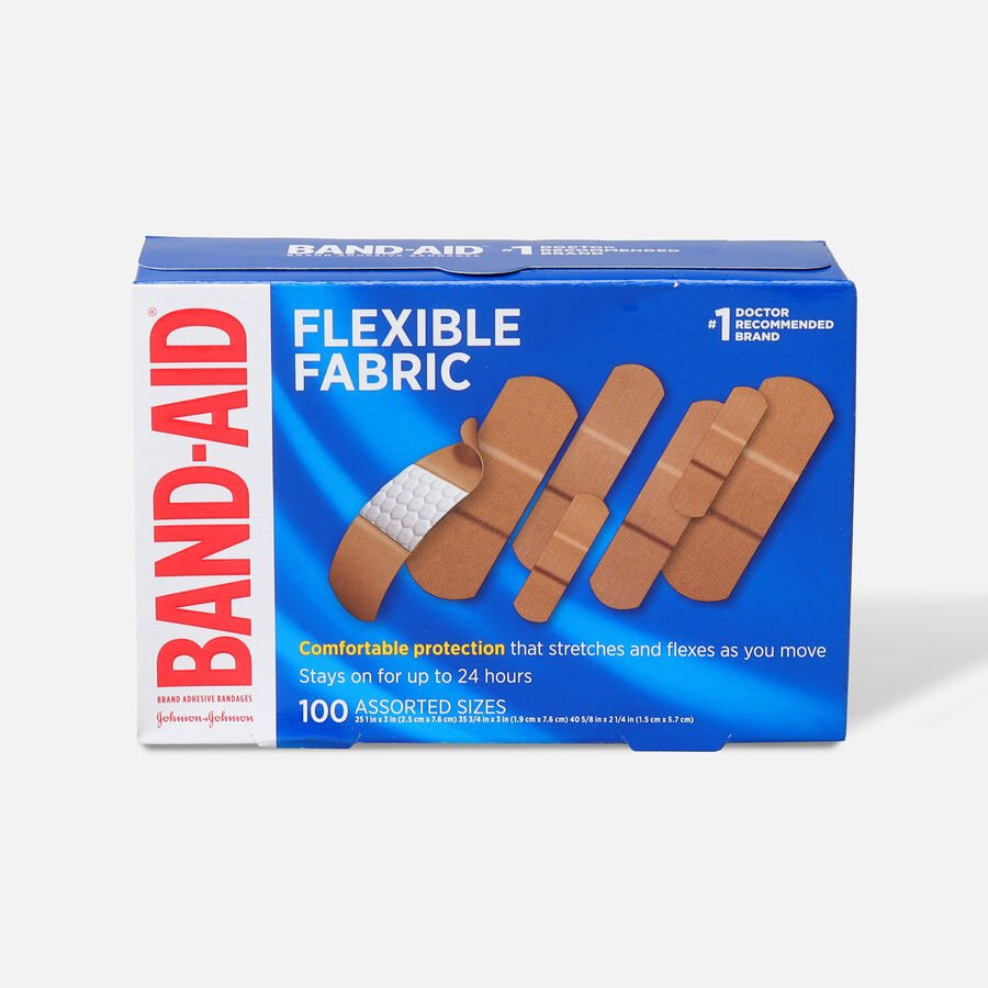 Band-Aid Flexible Fabric Adhesive Bandages, Assorted Sizes, , large image number 0