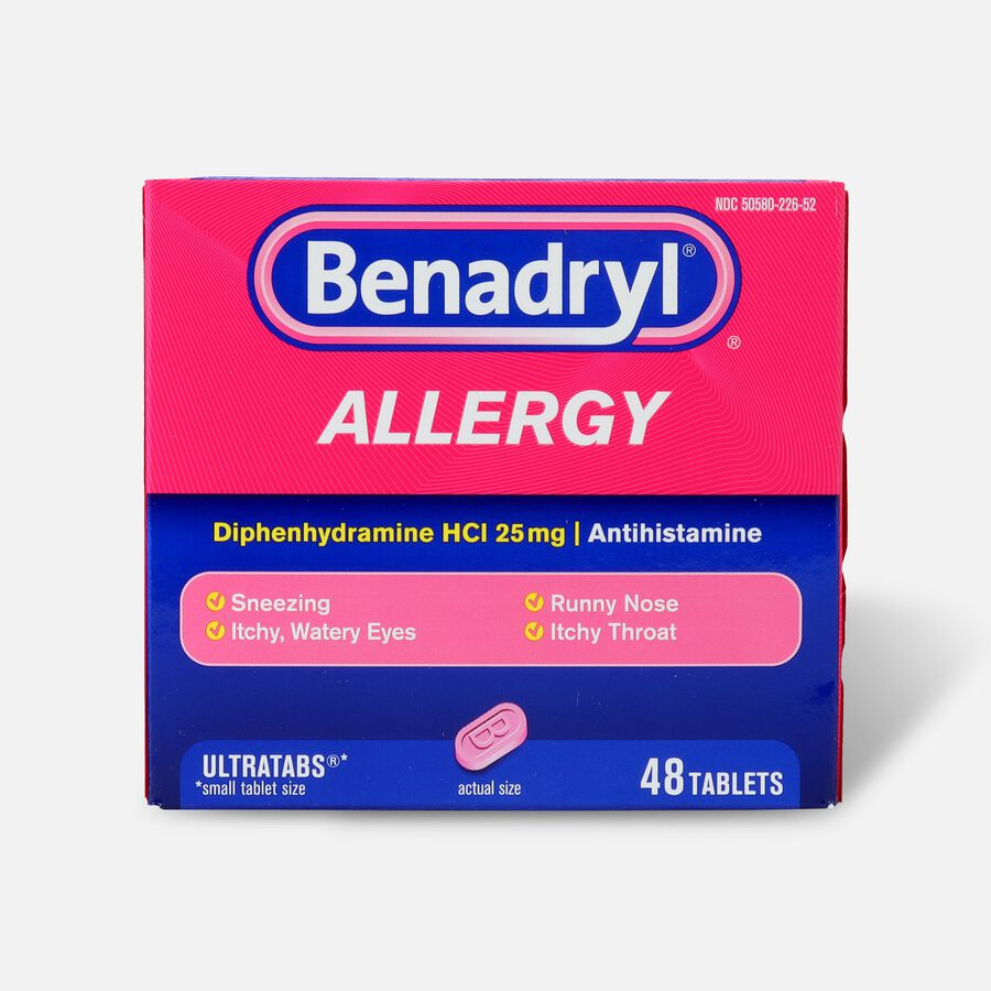 Benadryl Ultra Allergy Relief Tablets, 48 ct, , large image number 0
