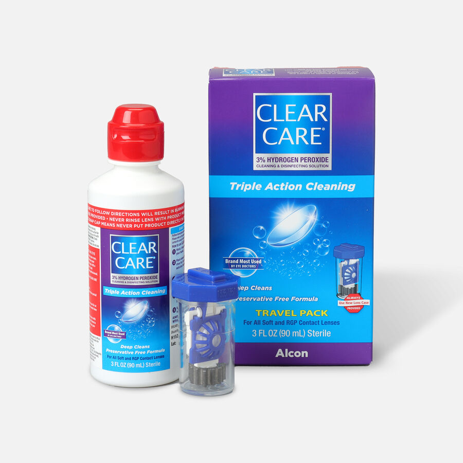 Clear Care Triple Action Cleaning Contact Travel Pack 3 oz, , large image number 3