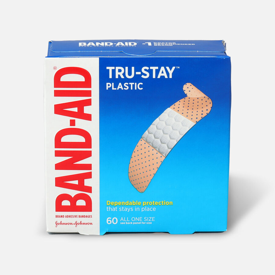 Band-Aid Plastic Strips Bandages, 60 ea, , large image number 0
