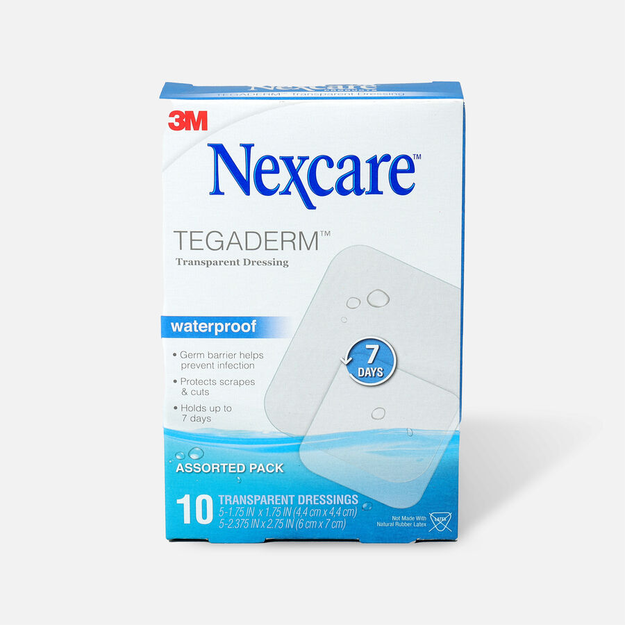 Nexcare Tegaderm Waterproof Transparent Dressing Assorted Pack - 10ct, , large image number 0
