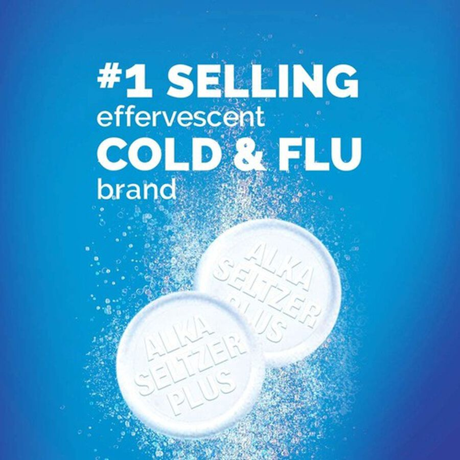 Alka-Seltzer Plus Cold & Cough PowerFast Fizz Effervescent Tablets, 20ct, , large image number 7