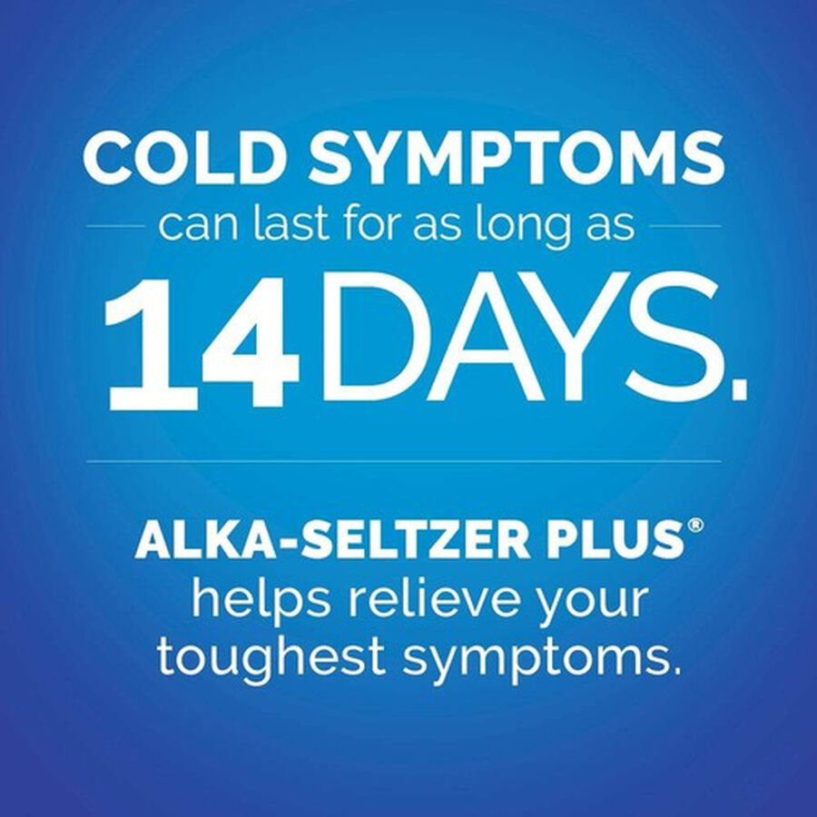 Alka-Seltzer Plus Cold & Cough PowerFast Fizz Effervescent Tablets, 20ct, , large image number 5