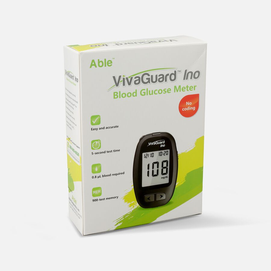 VivaGuard Ino Blood Glucose Meter, Black, , large image number 1