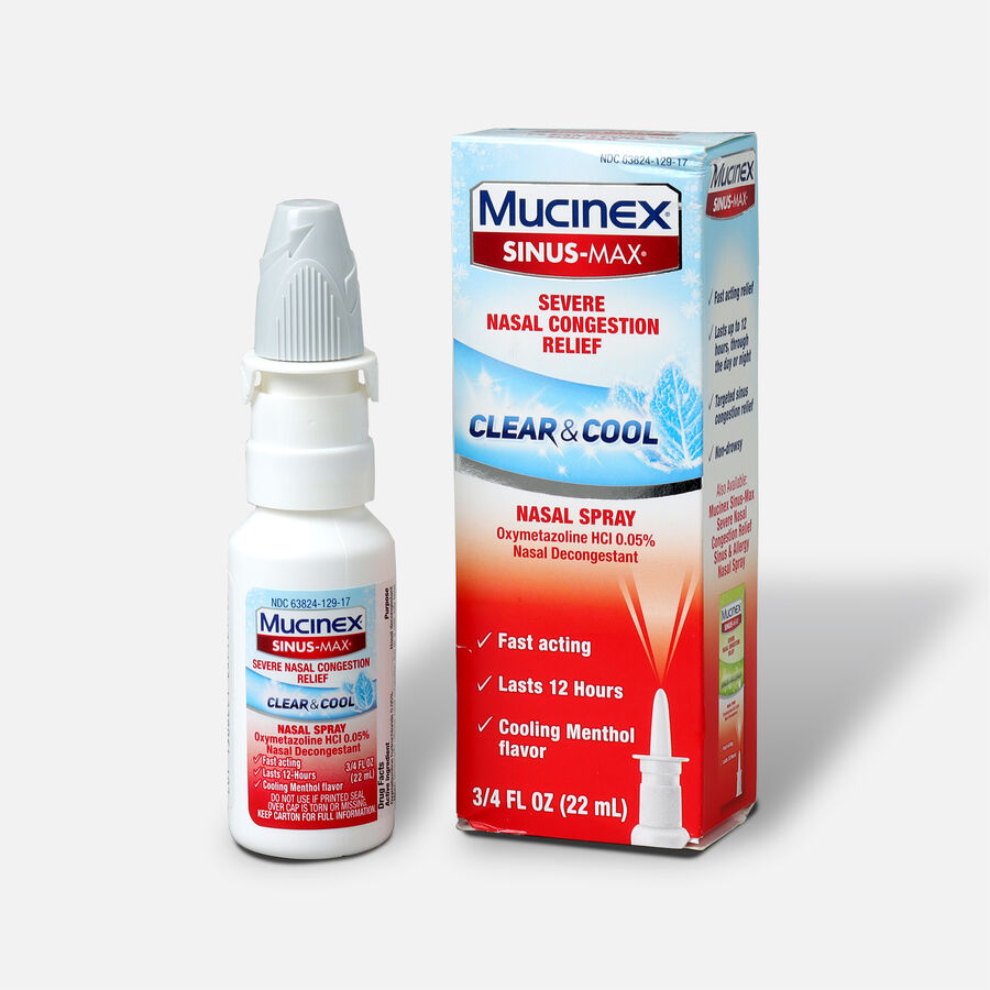 Mucinex Sinus-Max Nasal Spray Clear and Cool, .75 oz, , large image number 2