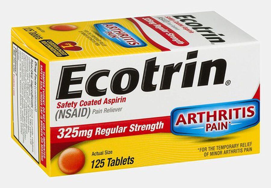 Ecotrin, Regular Strength Aspirin Tablets, 125 ct., , large image number 1
