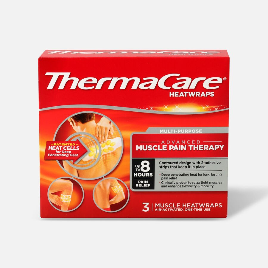 Thermacare Heat Wrap Muscle and Joint Wraps, 8HR, 3 ct, , large image number 0