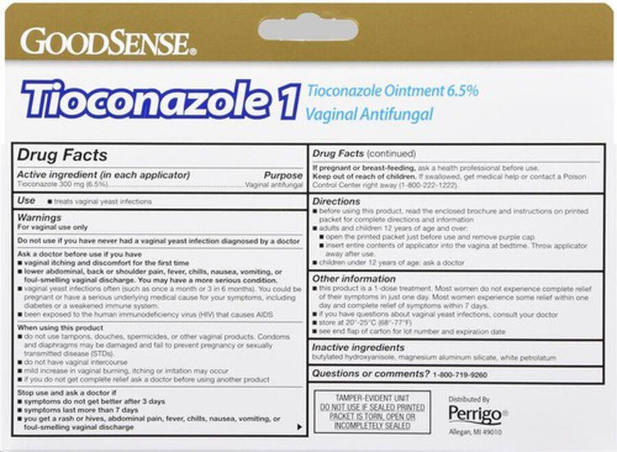 GoodSense® Tioconazole 1 Dose Treatment w/ 1 pre-filled Applicator 0.16 oz, , large image number 1