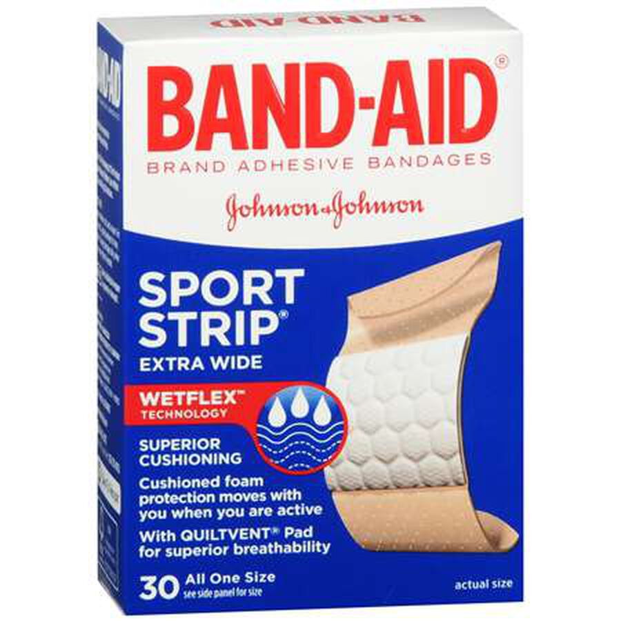 Band-Aid Sport Strip, Extra Wide, 30 ea, , large image number 0