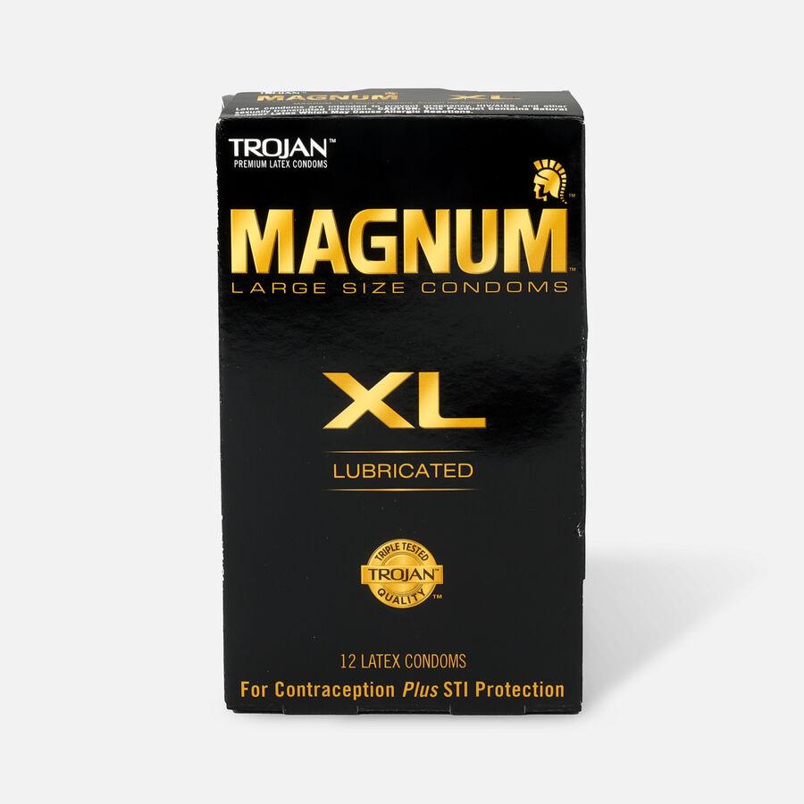 Trojan Lubricated Latex Condoms, Magnum XL, Extra Large 12 ea, , large image number 0