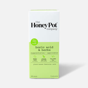 The Honey Pot Boric Acid & Herbs 7 Day Suppositories, 14ct