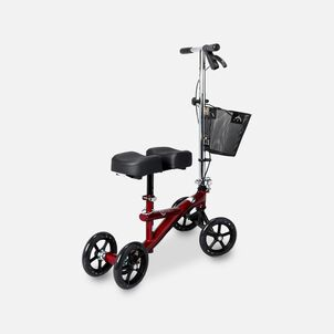 """Roscoe Knee Scooter with 8-Hole Stem Burgundy, 4 ft. 11"""" to 6 ft. 6"""" Height Range"""