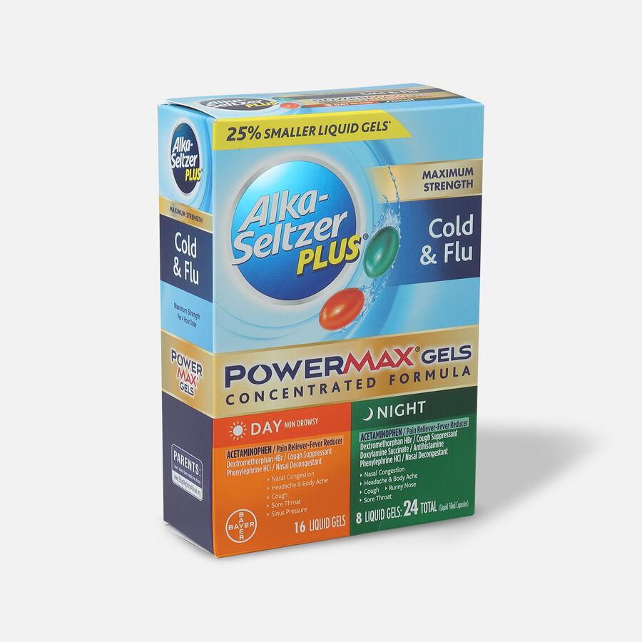 Alka-Seltzer Plus PowerMax Gels, Cold & Flu, Day & Night, 24ct, , large image number 2